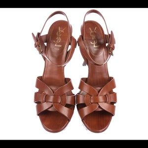 YSL, Tribute 75 Platform Sandals, 8.5
